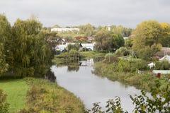Het landschap in suzdal, Russische federatie royalty-vrije stock foto