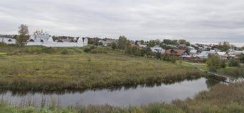 Het landschap in suzdal, Russische federatie royalty-vrije stock fotografie