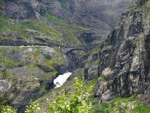 Het landschap Trollstigen van Noorwegen Stock Afbeelding