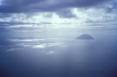 Het landschap van Alicudi Stock Foto's