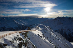 Het landschap van alpen Stock Foto