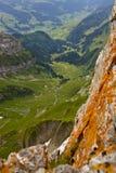 Het landschap van alpen. stock foto