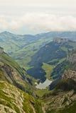 Het landschap van alpen. stock afbeelding