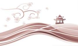Het landschap van Azië Royalty-vrije Illustratie