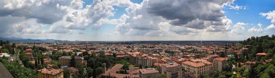Het landschap van Bergamo stock afbeeldingen