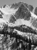 Het landschap van bergen in de winter Stock Afbeelding