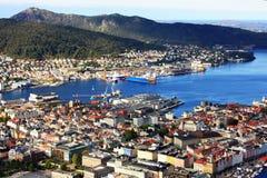 Het landschap van Bergen in Noorwegen Stock Fotografie