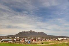 Het landschap van bergenpyatigorya stock afbeelding