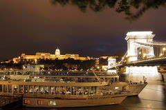 Het landschap van Boedapest van de nacht Royalty-vrije Stock Foto