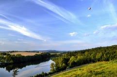 Het landschap van Bohemen tijdens de zomer Stock Afbeeldingen