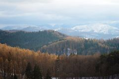 Het landschap van Bucegibergen stock afbeelding