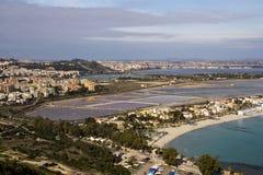 Het landschap van Cagliari Stock Foto's