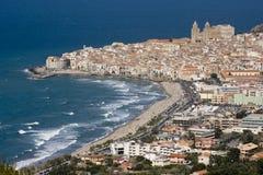 Het landschap van Cefalù Stock Foto