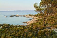 Het landschap van Chalkidiki - Kavuroti Pez Royalty-vrije Stock Foto
