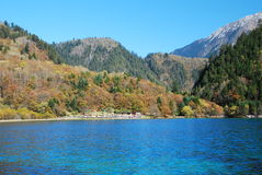 Het landschap van China Sichuan Jiuzhaigou Royalty-vrije Stock Afbeeldingen