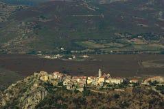 Het landschap van Corsica Stock Foto's