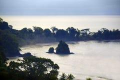 Het landschap van Costa Rica stock fotografie