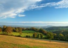 Het Landschap van Cotswold, Engeland. Stock Afbeelding