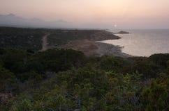 het landschap van Cyprus Stock Afbeeldingen