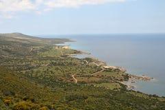 het landschap van Cyprus Stock Foto's