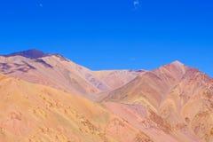 Het landschap van de Andes dichtbij Paso DE Agua Negra bergpas, Gebied DE Coquimbo, Chili aan Argentinië royalty-vrije stock foto