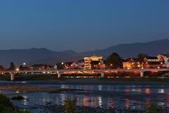 Het landschap van de avond Royalty-vrije Stock Afbeeldingen