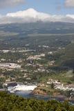 Het landschap van de Azoren Angra do Heroismo en Santa Barbara Peak Terc Stock Foto's