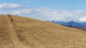 Het landschap van de berg stock footage