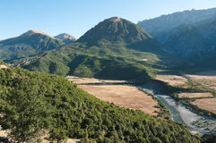 Het Landschap van de berg in Albanië royalty-vrije stock foto