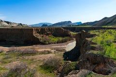 Het landschap van de berg canion Stock Foto