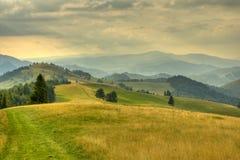 Het landschap van de berg in de zomer Royalty-vrije Stock Foto's