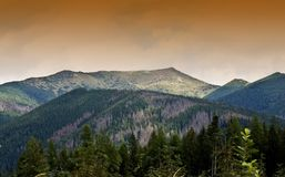 Het landschap van de berg dichtbij door Krivan Royalty-vrije Stock Afbeeldingen