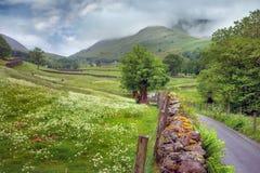 Het landschap van de berg in het Engelse District van het Meer. royalty-vrije stock afbeelding