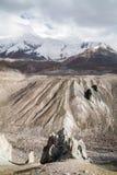 Het landschap van de berg Het gebied van Pamir kyrgyzstan Stock Foto's
