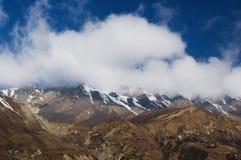 Het landschap van de berg in het Himalayagebergte Royalty-vrije Stock Fotografie