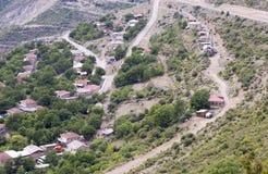 Het landschap van de berg Het landschap in Armenië (Tatev) Stock Afbeeldingen