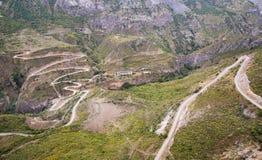 Het landschap van de berg Het landschap in Armenië (Tatev) Royalty-vrije Stock Afbeeldingen
