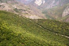 Het landschap van de berg Het landschap in Armenië (Tatev) Royalty-vrije Stock Foto's