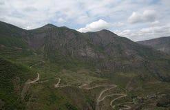 Het landschap van de berg Het landschap in Armenië (Tatev) Royalty-vrije Stock Fotografie