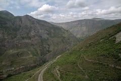 Het landschap van de berg Het landschap in Armenië (Tatev) Royalty-vrije Stock Afbeelding