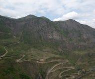 Het landschap van de berg Het landschap in Armenië (Tatev) Stock Fotografie