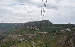 Het landschap van de berg Het landschap in Armenië (Tatev) Stock Afbeelding