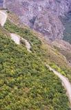 Het landschap van de berg Het landschap in Armenië (Tatev) Stock Foto