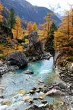 Het landschap van de berg - Innergschloss, Oostenrijk royalty-vrije stock foto