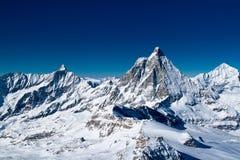 Matterhorn, Zermatt, Zwitserland Royalty-vrije Stock Fotografie