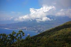 Het landschap van de berg met wolken Royalty-vrije Stock Afbeelding