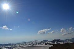 Het landschap van de berg met zon Royalty-vrije Stock Afbeeldingen