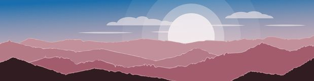 Het landschap van de berg met zon en wolken Het natuurlijke landschap P Stock Foto