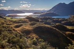 Het landschap van de berg, Nieuw Zeeland Stock Foto's