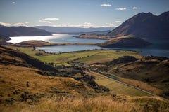 Het landschap van de berg, Nieuw Zeeland Stock Foto